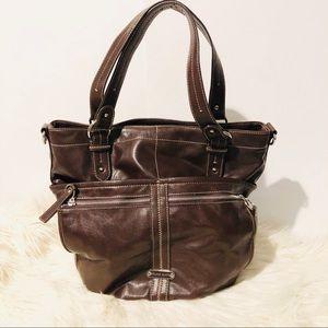 Franco Sarto Chocolate Brown Large Shoulder Bag